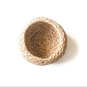 Small Round Boho Woven Basket
